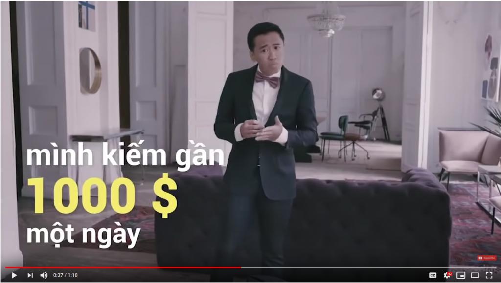 Mẫu quảng cáo phản cảm của Binomo