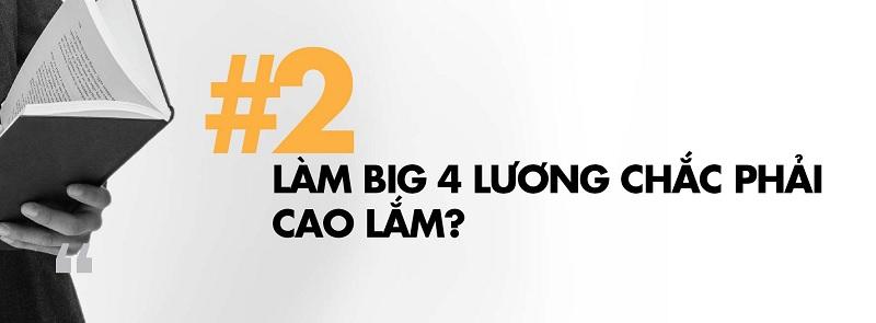 Mức lương của nhân viên Big4 tại Việt Nam